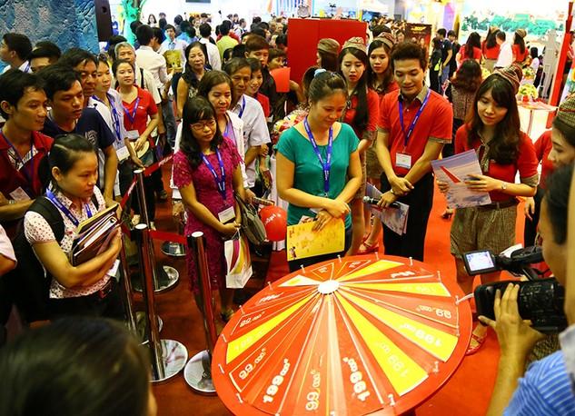 Vietjet tặng hơn 2.100 vé 0 đồng tại Hội chợ Du lịch quốc tế TP.HCM 2016