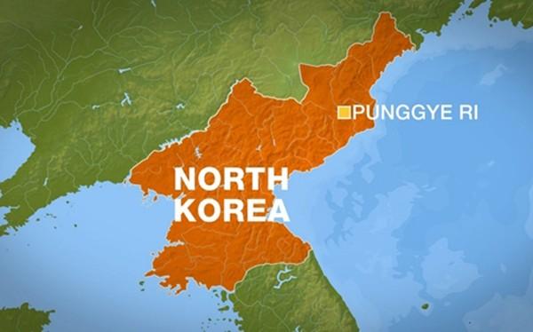 Vị trí khu vực thử hạt nhân Pyunggye-ri, Triều Tiên. Đồ họa: Al Jazeera.