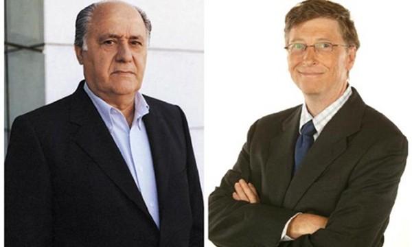 Amancio Ortega (trái) và Bill Gates (phải) được dự báo liên tục đổi ngôi cho nhau. Ảnh: NC