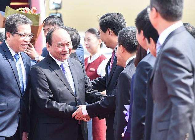 Thủ tướng Nguyễn Xuân Phúc và đoàn cấp cao Việt Nam bắt đầu chuyến thăm chính thức Trung Quốc từ ngày 12/9. Ảnh: Quang Hiếu