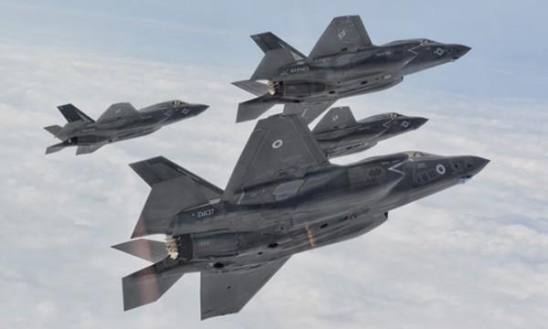 Một phi đội tiêm kích F-35B của Thủy quân lục chiến Mỹ. Ảnh : US Marine Corps
