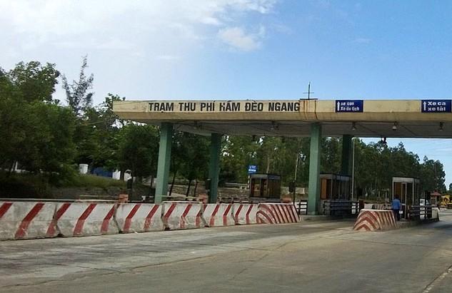 Dự án Mở rộng QL1 đoạn qua tỉnh Quảng Bình đến Trạm thu phí Hầm Đèo Ngang có khoảng cách các trạm thu phí quá gần nhau. Ảnh: Nguyễn Ngọc