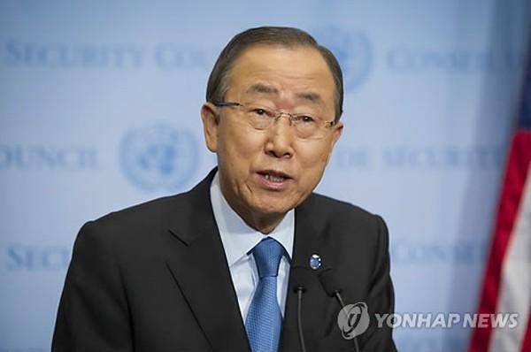 Tổng thư ký Liên Hợp Quốc Ban Ki-moon. Ảnh: Yonhap