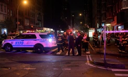 Khoảnh khắc vụ nổ xảy ra ở New York