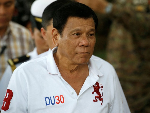 Tổng thống Philippines Rodrigo Duterte. Ảnh:Reuters