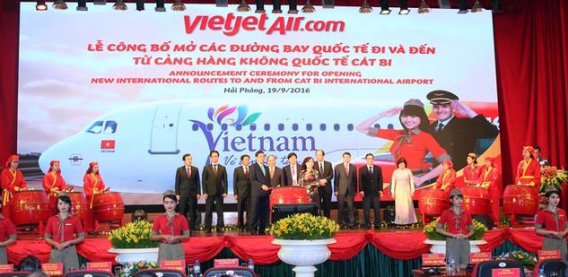 Vietjet công bố 02 khai thác đường bay quốc tế từ Hải Phòng