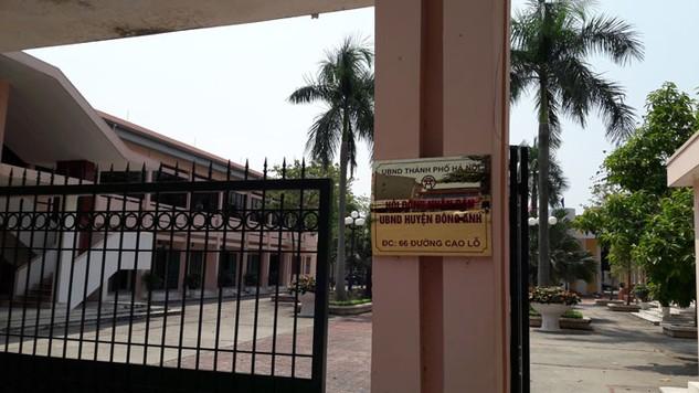 Trụ sở Ban Quản lý dự án huyện Đông Anh nằm trong khuôn viên Trụ sở UBND Huyện. Ảnh: Việt Ba – Tuấn Dũng
