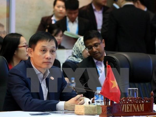 Thứ trưởng Ngoại giao Lê Hoài Trung tại Hội nghị cấp cao ASEAN. (Nguồn: TTXVN)
