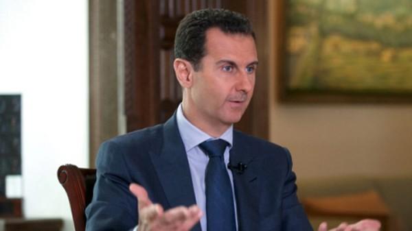 Tổng thống Assad trả lời phỏng vấn AP tại Damascus. Ảnh: AP