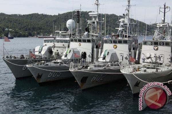 Các tàu chiến của hải quân Indonesia. Ảnh: Antaranews