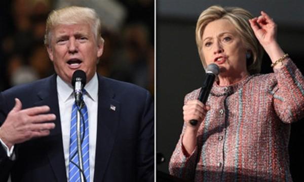 Ứng viên đảng Cộng hòa Donald Trump và ứng viên đảng Dân chủ Hillary Clinton. Ảnh: CNN