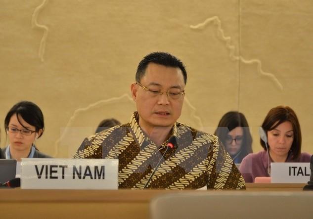 Đại sứ Nguyễn Trung Thành. (Ảnh: Duy Thái/TTXVN)