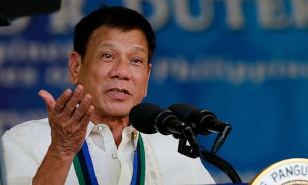 Tổng thống Philippines Duterte. Ảnh:Newscom