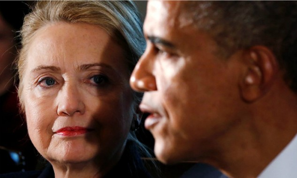 Hillary Clinton và Obama. Ảnh:Reuters
