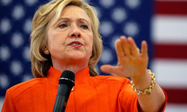Ứng viên tổng thống đảng Dân chủ Hillary Clinton. Ảnh:AP