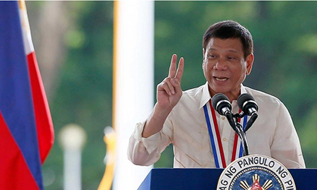 Tổng thống Philippines Duterte. Ảnh:Independent