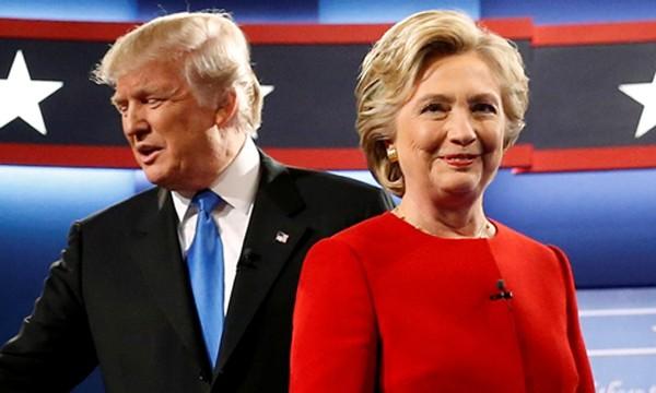 Ứng viên tổng thống đảng Cộng hòa Donald Trump (trái) và đảng Dân chủ Hillary Clinton. Ảnh:Reuters.