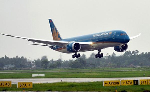 """Máy bay Boeing 787 được mệnh danh """"khách sạn 5 sao di động"""". Ảnh: Xuân Hoa"""