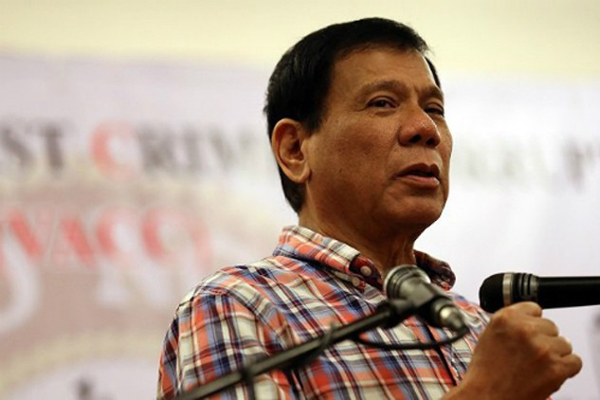 Tổng thống Philippines Rodrigo Duterte. Ảnh:Inquirer