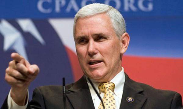 Ứng viên phó tổng thống Mỹ của đảng Cộng hòa, ông Mike Pence. Ảnh: NBC.