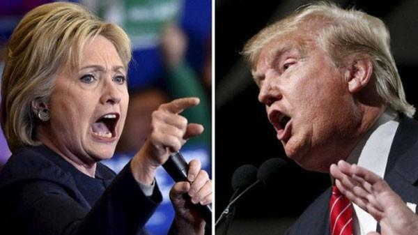 Ứng viên tổng thống Mỹ đảng Dân chủ Hillary Clinton và đối thủ thuộc đảng Cộng hoà Donald Trump. Ảnh: BBC