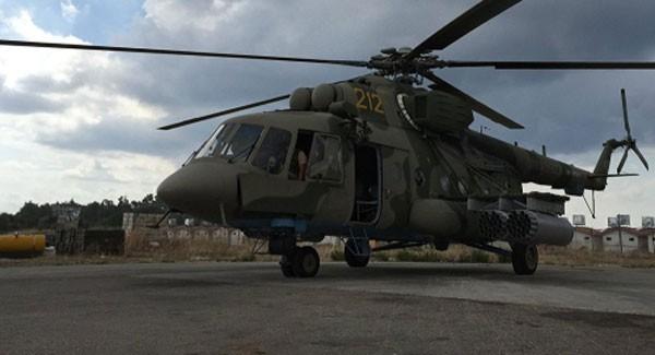 Trực thăng Mi-8 của Nga ở căn cứ Hmeymim, Syria. Ảnh: Sputnik