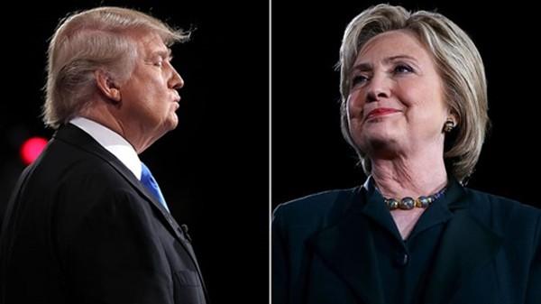 Ứng viên tổng thống Mỹ đảng Cộng hòa Donald Trump (trái) và đối thủ đảng Dân chủ Hillary Clinton. Ảnh: Rolling Stone