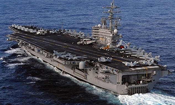 Tàu sân bay USS Ronald Reagan. Ảnh: AFP