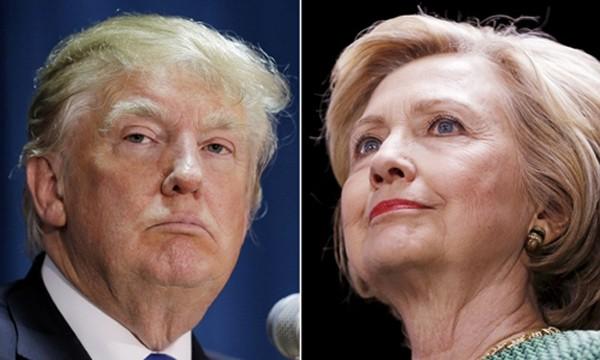 Donald Trump, đảng Cộng hòa (trái), và Hillary Clinton, đảng Dân chủ. Ảnh:Reuters.