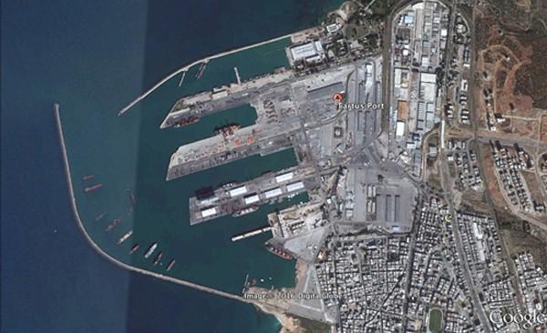Ảnh vệ tinh quân cảng Tartus của Nga ở Syria. Ảnh: DigitalGlobe