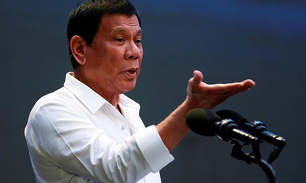 Tổng thống Philippines Duterte. Ảnh: Reuters