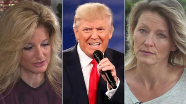Summer Zervos (từ trái sang), Donald Trump và Kristin Anderson. Ảnh: SkyNews
