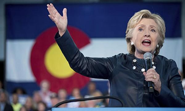 Ứng viên tổng thống Hillary Clinton. Ảnh: AP