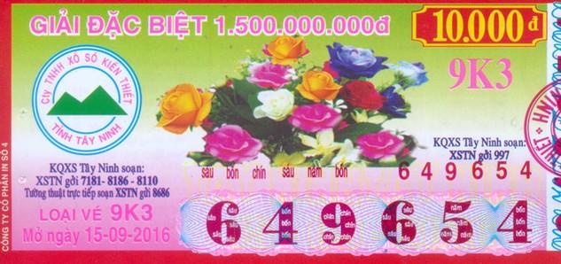 Năm 2015, XSKT Tây Ninh đóng góp 1.240 tỷ đồng, tương đương 34,4% thu ngân sách cả Tỉnh. Ảnh: Đan Nguyên