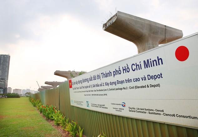 Dự án Xây dựng tuyến đường sắt đô thị TP.HCM (Bến Thành - Suối Tiên) vốn vay JICA có mức giải ngân cao so với kế hoạch giao năm 2016. Ảnh: Lê Tiên