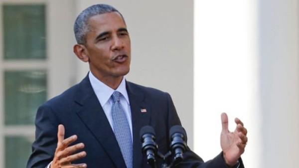 Tổng thống Mỹ Barack Obama hôm 18/10 phát biểu tại Nhà Trắng. Ảnh: AP