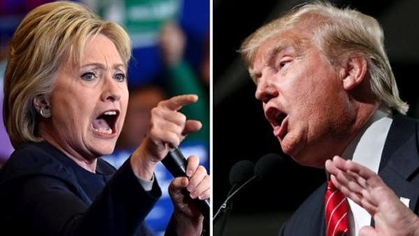 Ứng viên tổng thống Mỹ đảng Dân chủ Hillary Clinton và đối thủ đảng Cộng hòa Donald Trump. Ảnh: Reuters