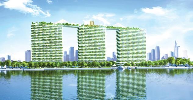 Diamond Lotus Riverside, dự án xanh theo tiêu chuẩn Hoa Kỳ hiếm hoi tại TP.HCM (Ảnh Dự án)