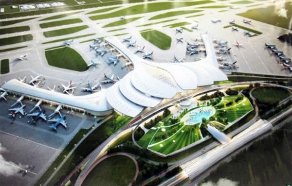 Nhà ga sân bay Long Thành thiết kế hình hoa sen là một trong 3 mẫu thiết kế đang được đưa ra lấy ý kiến rộng rãi. Ảnh: Hữu Công