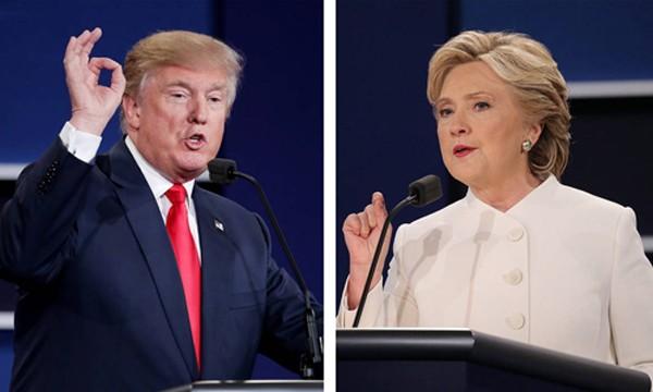 Tỷ phú Trump được cho là thể hiện tốt trong phần đầu cuộc tranh luận. Ảnh: WSJ