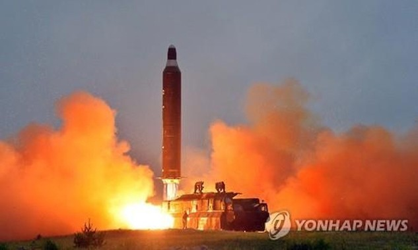 Hình ảnh một vụ phóng tên lửa của Triều Tiên. Ảnh: Yonhap.