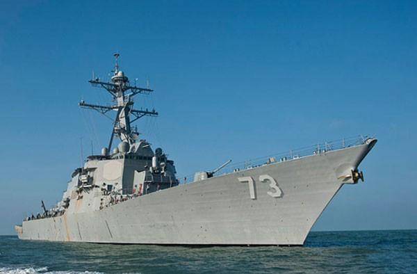 Tàu chiến Mỹ USS Decatur. Ảnh: Wikipedia