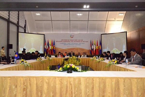 Quan chức cấp cao 4 nước trong cuộc họp sáng 24/10.