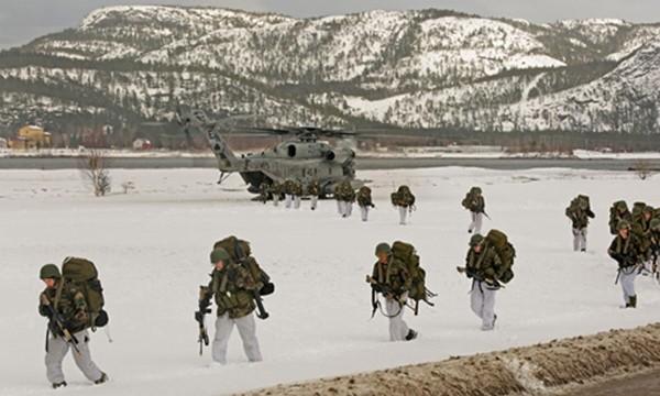 Mỹ sẽ triển khai 330 lính thủy đánh bộ tới Na Uy, cách biên giới Nga khoảng 1.000 km. Ảnh minh họa:AFP.