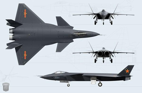 Chiến đấu cơ tàng hình J-20 của Trung Quốc. Ảnh: Global Security.