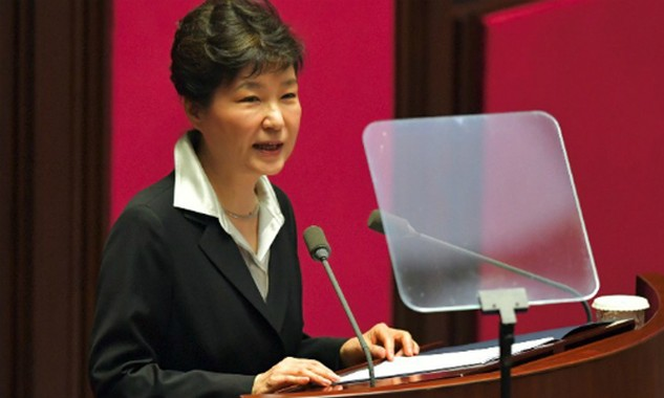 Tổng thống Hàn Quốc Park Geun-hye. Ảnh: AFP