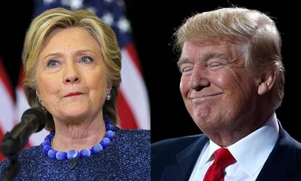Bà Hillary Clinton, ứng viên đảng Dân chủ (trái), và ông Donald Trump, đảng Cộng hòa. Ảnh: Reuters.
