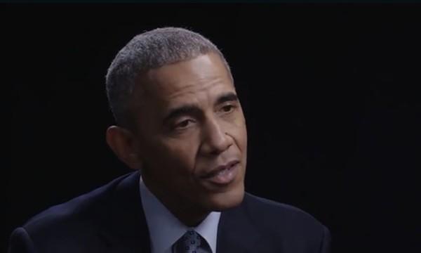 """Tổng thống Mỹ Barack Obama xuất hiện trong chương trình phỏng vấn trên truyền hình """"Now This News"""". Ảnh: CNN"""