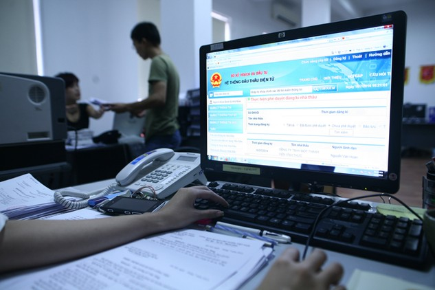 Trên Hệ thống mạng đấu thầu quốc gia, số lượng nhà thầu nước ngoài, dù đã trúng thầu nhưng không cung cấp thông tin về địa chỉ, trụ sở tại Việt Nam chiếm tỷ lệ khá cao. Ảnh: Đức Thanh