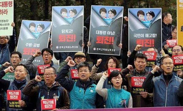 Cảnh sát dự kiến khoảng 40.000 người sẽ biểu tình ở Seoul hôm nay. Ảnh: Canadian Press